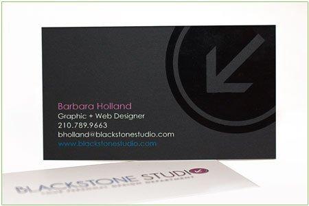 Satin Finish Business Cards Blackstone Studio
