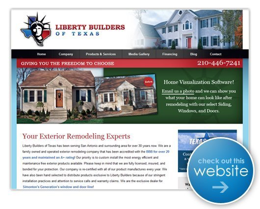 Liberty Builders of Texas Website