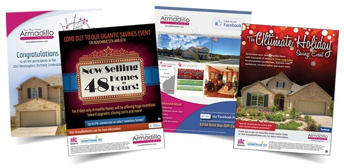 Armadillo Homes Promotional Ads