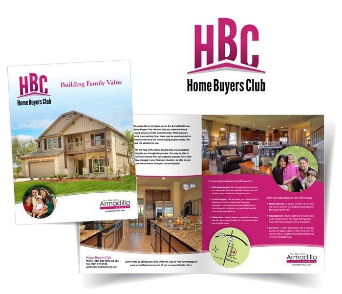 Home Buyers Club Fold-Over Brochure & Logo