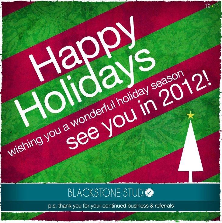 Happy Holidays from BlackStone Studio