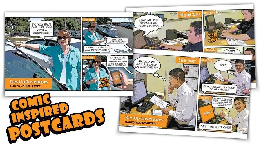 Comic Inspired Postcards