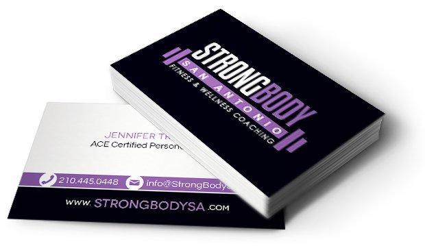Business Card Design Print For Strong Body Sa