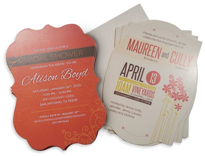 Shaped Card Invites