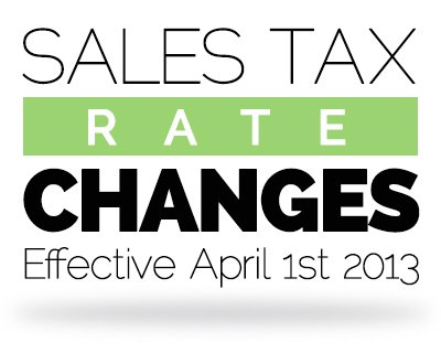 Sales Tax Rate Changes