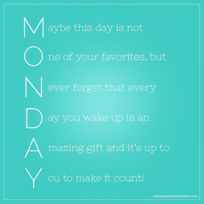 Monday - Make it Count
