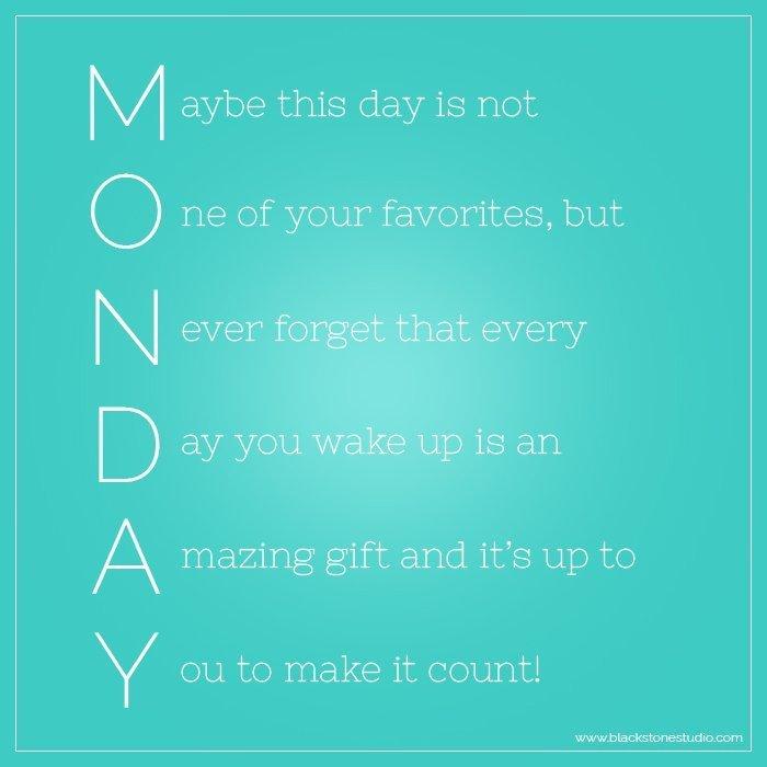 Monday - Make it Count