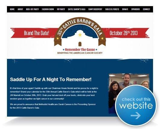 Cattle Baron's Gala Website