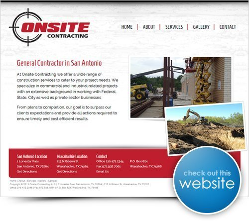 Onsite Contracting Website
