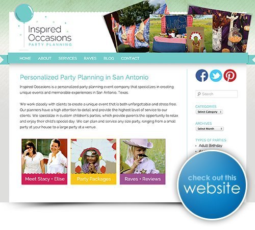 Inspired Occasions Website