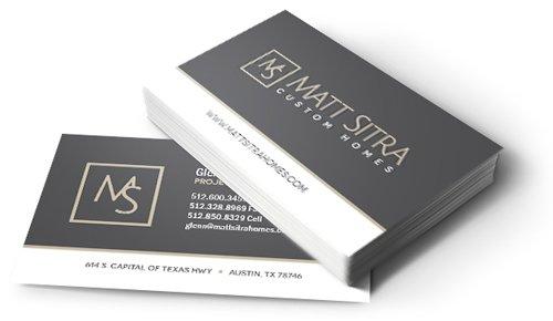 Matt Sitra Custom Homes Business Cards