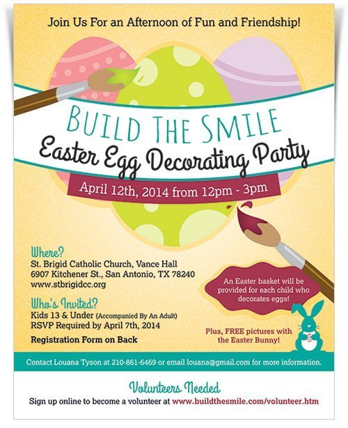 Build The Smile Easter Egg Decorating Party