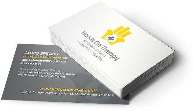 Hands On Therapy By Chris Spears Business Cards